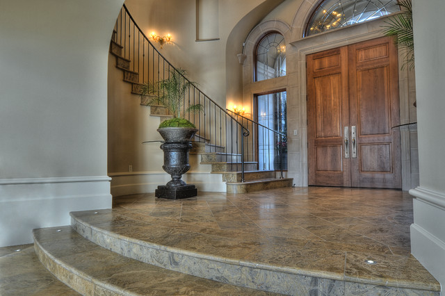 Mercer Island Estate mediterranean-entry
