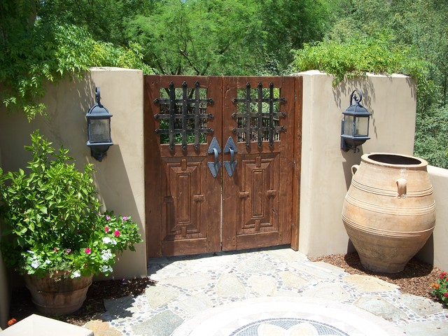 Outdoor Garden Doors Of Mexican Garden Gates Entry Mediterranean Entry