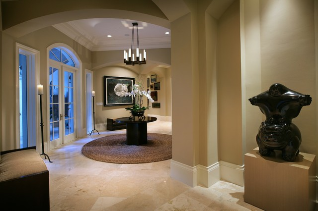 Miami-Foyer contemporary entry