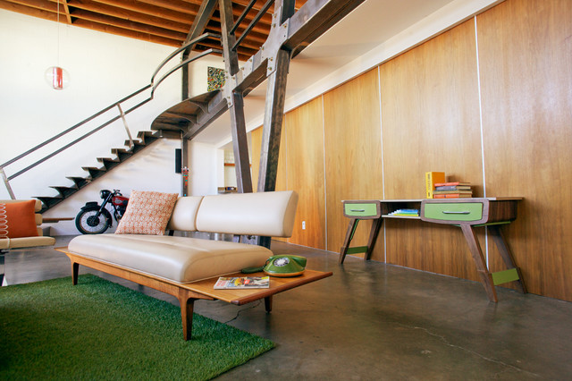 Mid Century Modern Inspired Entry Table Retro Entrance Los Angeles By Able And Baker