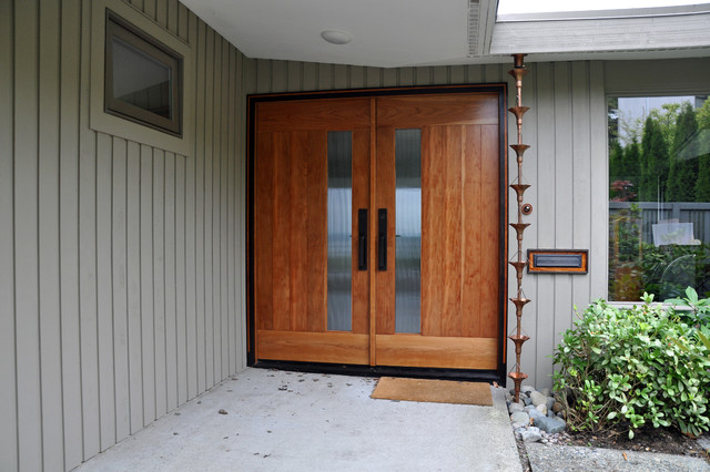 Mid Century Modern Master Suite Midcentury Entry Seattle By Ventana Construction Llc