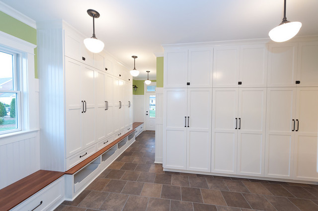 Mill Cabinet Shop Mudroom and Baths - Contemporary - Entry - richmond - by Mill Cabinet Shop