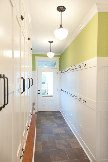 Mill Cabinet Shop Mudroom And Baths Contemporary Entry
