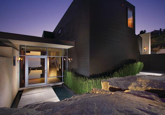 Mintzer Residence - Entry at Night modern-entry