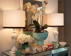 Mirrored Console Table entry