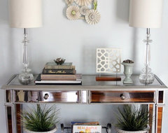 Mirrored Console Table eclectic-entry