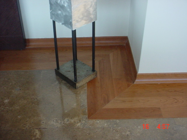 Mixing Marble Flooring With Woodfloors Modern Entry Other By