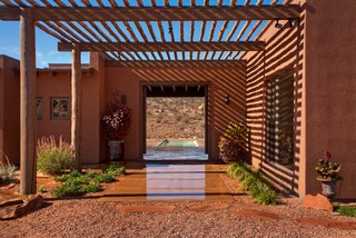 Moab Utah Vacation Home - Southwestern - Entry - other metro - by Karen White Interior Design