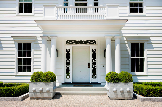 Modern colonial traditional entry new york by for Modern portico designs