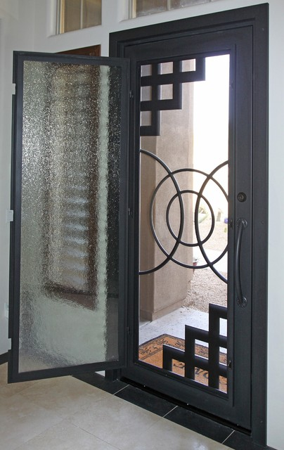 Abstract Iron Entry Door By First Impression Security Doors Modern Entry Phoenix By