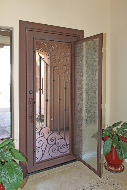 Custom Swirl Iron Entry Door by First Impression Security Doors - Modern - Entry - phoenix - by ...
