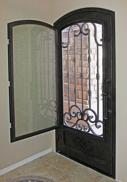 Traditional Scroll Iron Entry Door by First Impression Security