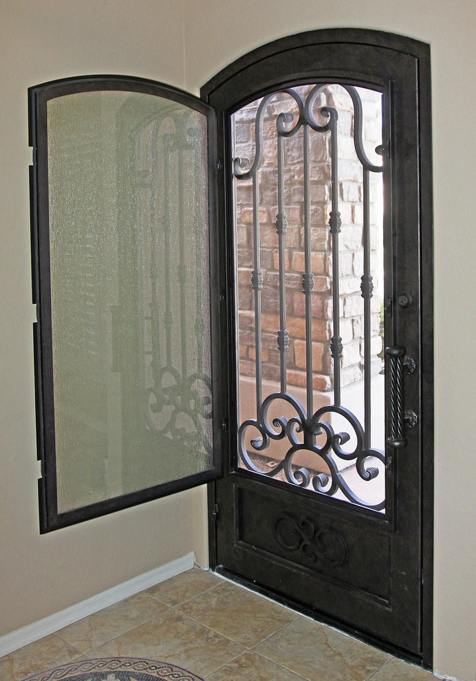 Traditional Scroll Iron Entry Door by First Impression Security Doors