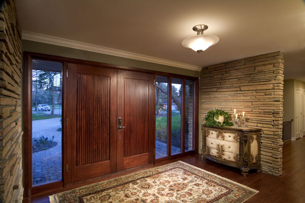 Modern Foyer Houzz : Whole house remodel front entryway