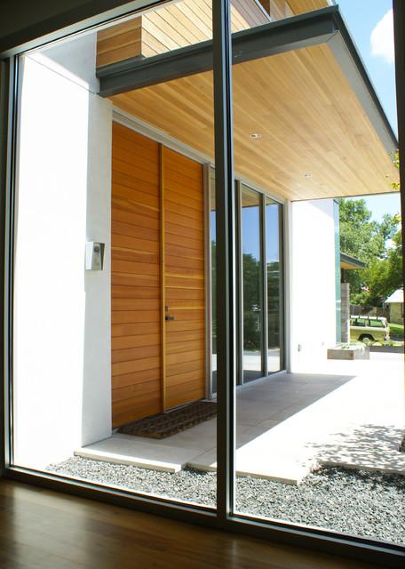 vance lane modern home modern entry austin by slic