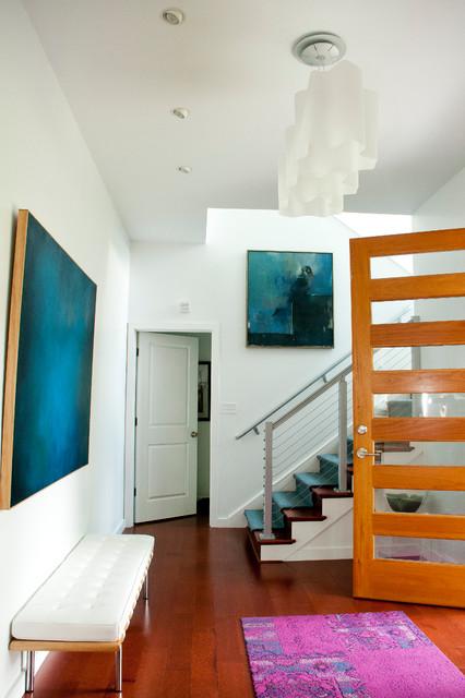 modern farmhouse contemporary-entry
