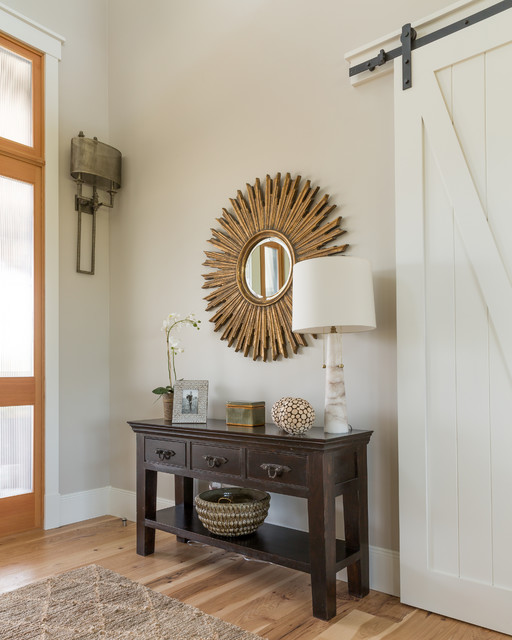 Inspiration for a transitional entryway remodel in Denver