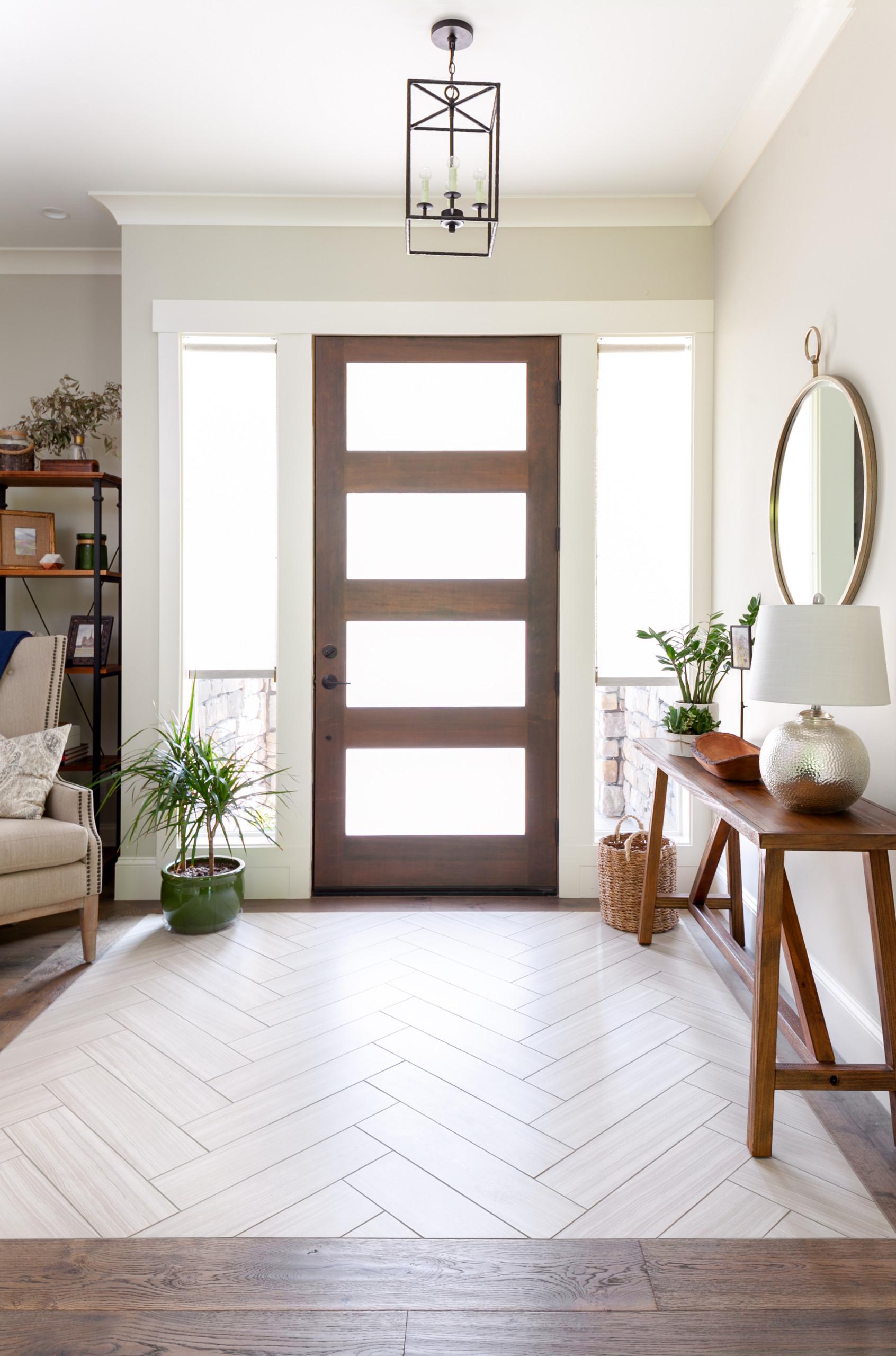 Herringbone Pattern Tile Entry Ideas & Photos | Houzz