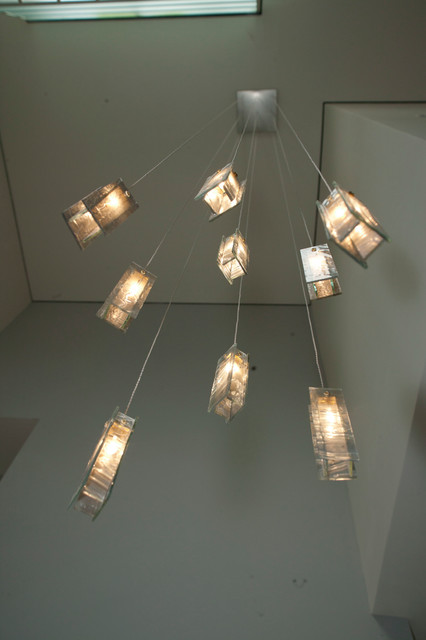 Contemporary Foyer Lighting : Modern foyer lights blown glass pendants light