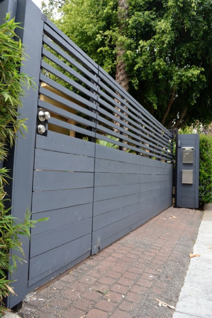 Modern Gate Automatic Rolling Gate Craftsman Entry