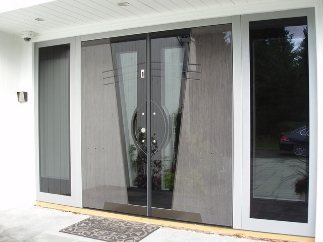 Modern grand entrance modern entry new york by for Grand entrance doors