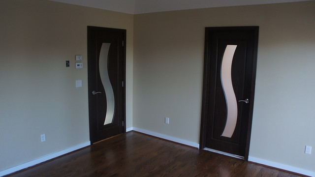 Modern Interior Doors M 34 Black Walnut Interior Doors Eclectic