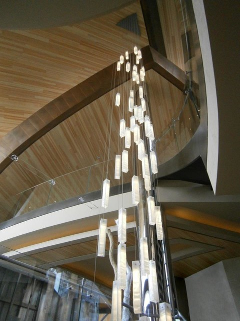 Contemporary Foyer Entry Chandeliers : Modern lighting for foyer entry stairway lights
