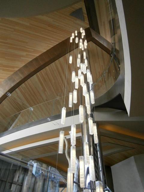 Modern lighting for foyer modern entry stairway lights for high modern lighting for foyer modern entry stairway lights for high ceiling foyer moderno entrada aloadofball Gallery