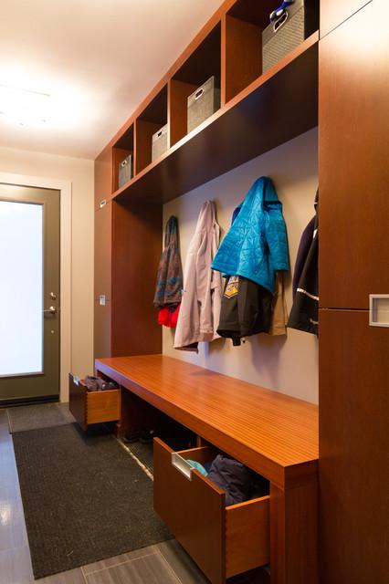 Mudroom Storage Ottawa : Modern mahagony contemporary entry ottawa by