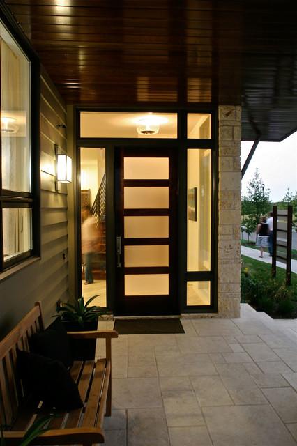 Modern Mahogany Entry Door Contemporary