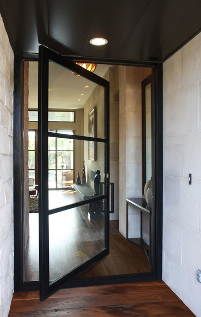 Modern Pivot Iron Door Modern Entry Austin By San
