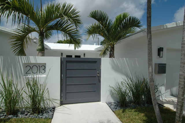 Modern Renovation Tropical Entry Miami By Schachne