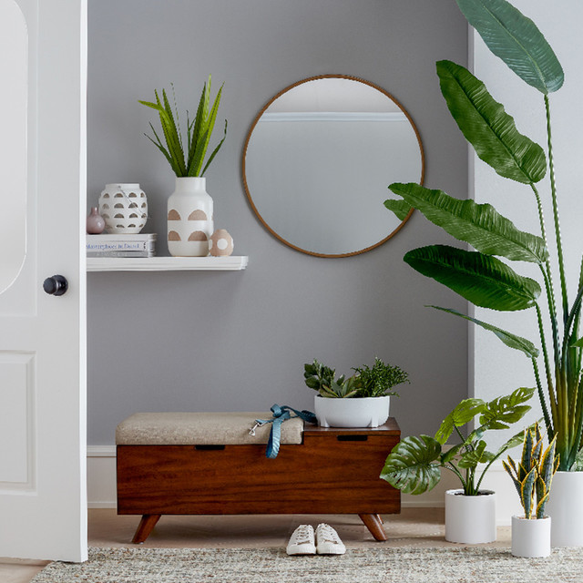 Modern Small Entryway With Greenery Ideas Collection