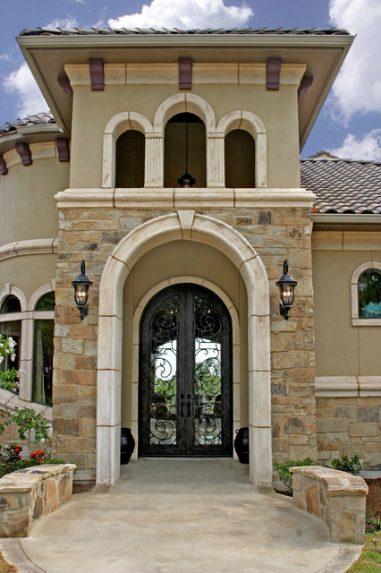 Tuscan design for Stone and stucco home designs