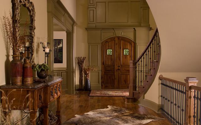 Houzz Rustic Foyer : Montana lodge
