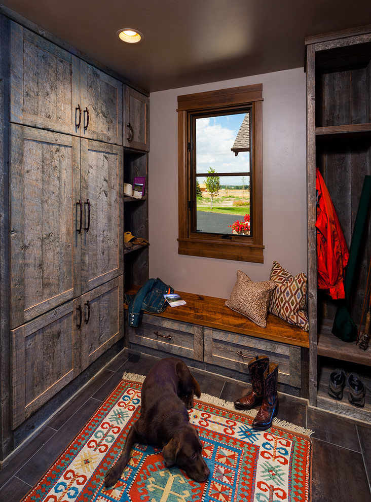 Example of a trendy mudroom design in Other