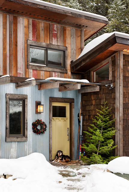 Mountain cabin rustic entry other metro by mindful for Cabin exterior design ideas