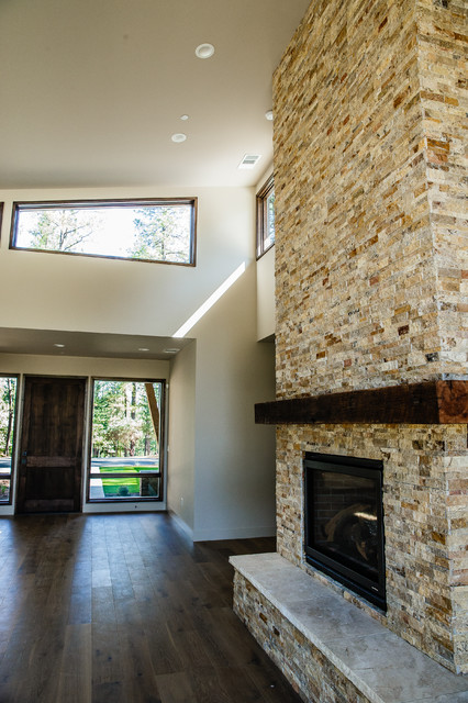 Mountain Modern Entry And Fireplace Modern Entry Sacramento By Jbt Signature Homes
