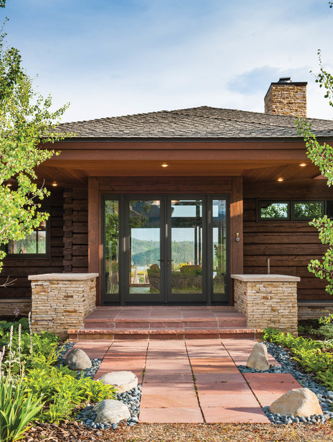 Colorado modern mountain home modern entry by m t n for Colorado mountain home plans