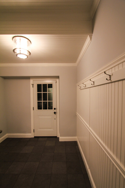 Mud/Laundry Room Remodel with White Wainscoting - Farmhouse - Entry - Philadelphia - by dRemodeling