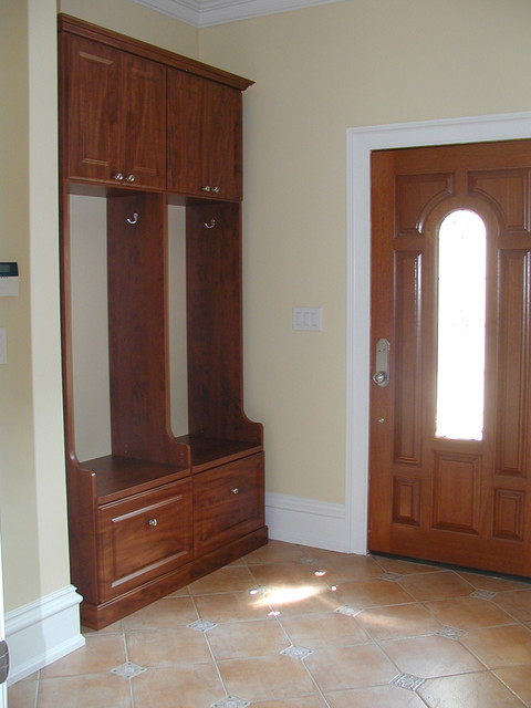 Mud room storage traditional-entry
