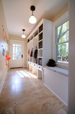 mudroom after traditional entry