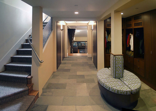 Mudroom and Family Entry through the Garage contemporary-entry