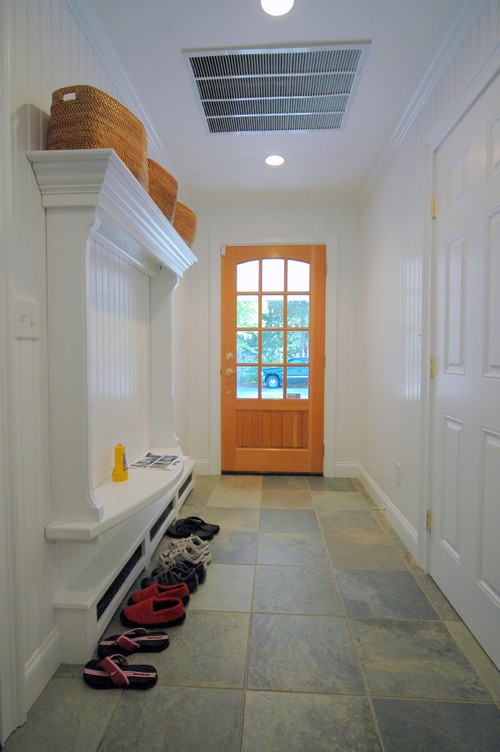 Mudroom eclectic entry