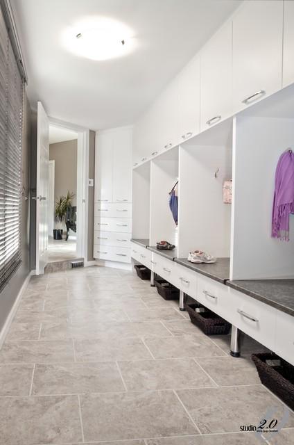 Mudroom Design contemporary-entry