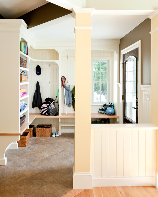 Mudroom traditional entry
