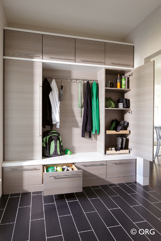 Mudroom Modern Entry Boston By Inspired Closets Of
