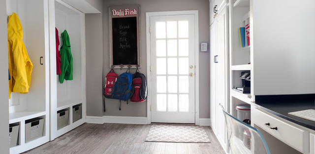 Mudroom laundry room office closet a place for everything for Mudroom office