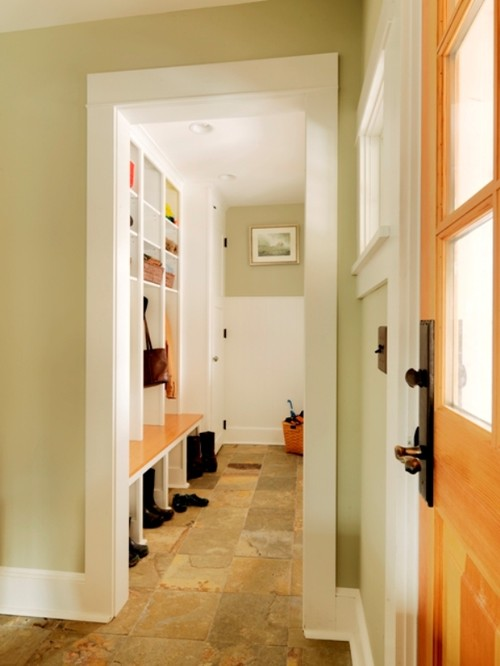 Mudroom contemporary entry