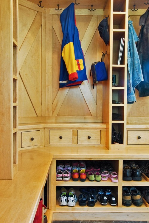 Mudroom Redesign contemporary entry